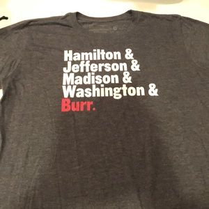 Other - Hamilton the musical t shirt